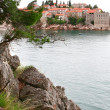 Sveti Stefan resort island in Montenegro - Stock Photo
