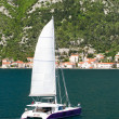 The Bay of Kotor view in spring - Stock Photo