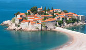 Sveti Stefan resort island in Montenegro — Stock Photo