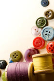 Buttons and bobbins — Stock Photo