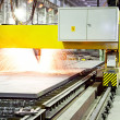 Plasma arc cutting — Stock Photo