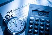 Tax form — Stock fotografie