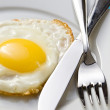 Fried egg on a plate — Stock Photo #8237052