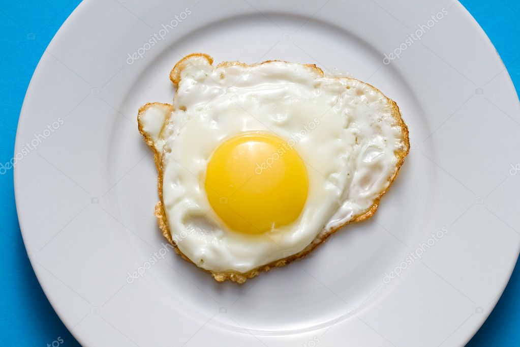 Fried Eggs In Plate On Table Stock Photo - Image of yellow ...  |Fried Eggs On A Plate