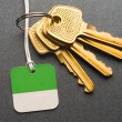 Keys on the grey background — Stock Photo