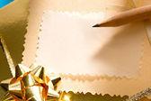 Decorated gift box — Stock Photo