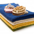 Towels, brush and pumice stones — Stock Photo #8306088