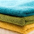 A pile of towels - Stock Photo