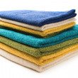 Stock Photo: A pile of towels