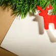 Envelope on the xmas background — Stock Photo