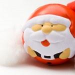 Santa Claus on white background — Stock Photo