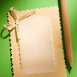 Greeting card and pencil - Foto Stock