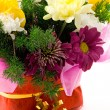 Flowers in basket — Stock Photo