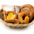 Basket of buns - Stock Photo