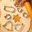 Stock Photo: Making cookies with forms