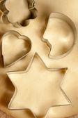 面团和 cookie 的形式 — 图库照片