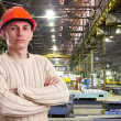 Foreman in the workshop — Stockfoto