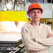 Foreman in the workshop — Stock Photo #9136129