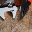 Stock Photo: Spanner and pliers