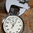 Spanner and stopwatch — Stock Photo