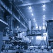 Foto Stock: Workshop of machinery plant