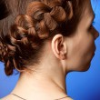 Modern hairdo with plaits — Stock Photo #9638634