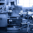 Stock Photo: Turning lathe in the workshop
