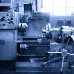 Turning lathe in the workshop — Stock Photo