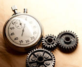 Mechanical ratchets with stopwatch — Stock Photo