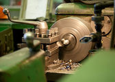 Turning lathe in the workshop — Stock Photo