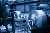 Turning lathe in the workshop — Foto Stock