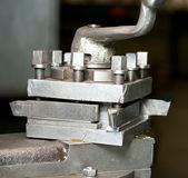 Old working lathe knife — Stock Photo