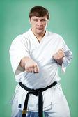 Karate master in kimono — Stock Photo