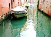 Canal of Venice with bouts — Stock Photo