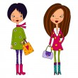 Stock Photo: Fashion girls