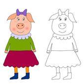 Piggy - malbuch — Stockfoto