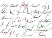 Signature writing signs — Stock Photo