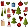 christmas decorative elements — Stock Photo
