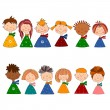 Children. Set of cartoon characters — Stock Photo