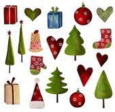 Christmas decorative elements — Stock Photo