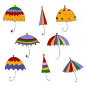 Umbrellas. Set of Decorative elements — Stock Photo