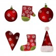 Collage. Christmas decorative elements — Stock Photo