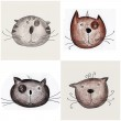 Cats. Decorative elements — Stock Photo