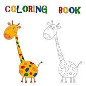 Cartoon characters. Coloring book — Stock Photo