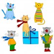 Cats. Set of cartoon characters — Stock Photo #8220629