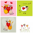 Set of greeting cards — Stock Photo