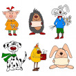 Set of Cartoon characters — Stock Photo