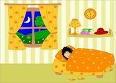 Personaje de dibujos animados. libro para colorear — Foto de Stock