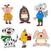 Set of Cartoon characters — Stock Photo