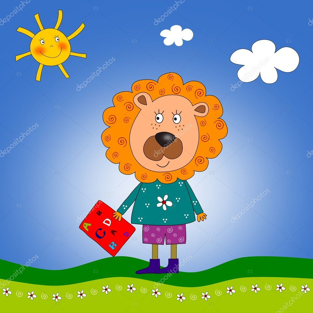 Colorful graphic illustration for children — Stock Photo #8483598